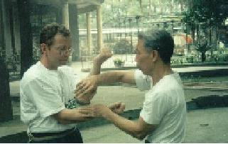 Wing Chun in Foshan. Larry with Lun Kai. Now Teaching Wing Chun Beeston, Nottingham
